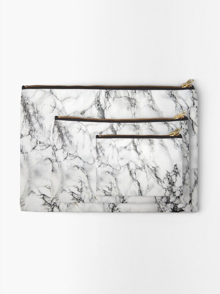 Alternate view of Marble Zipper Pouch