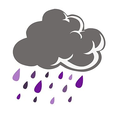 Literal Purple Rain Cloud by ccheshiredesign