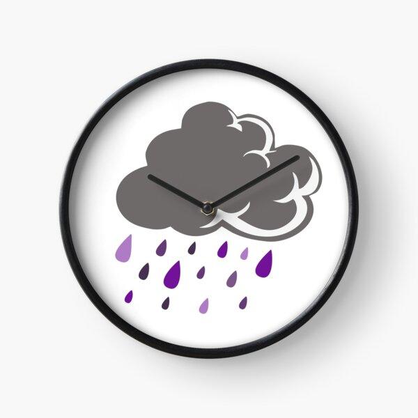 Literal Purple Rain Cloud Clock