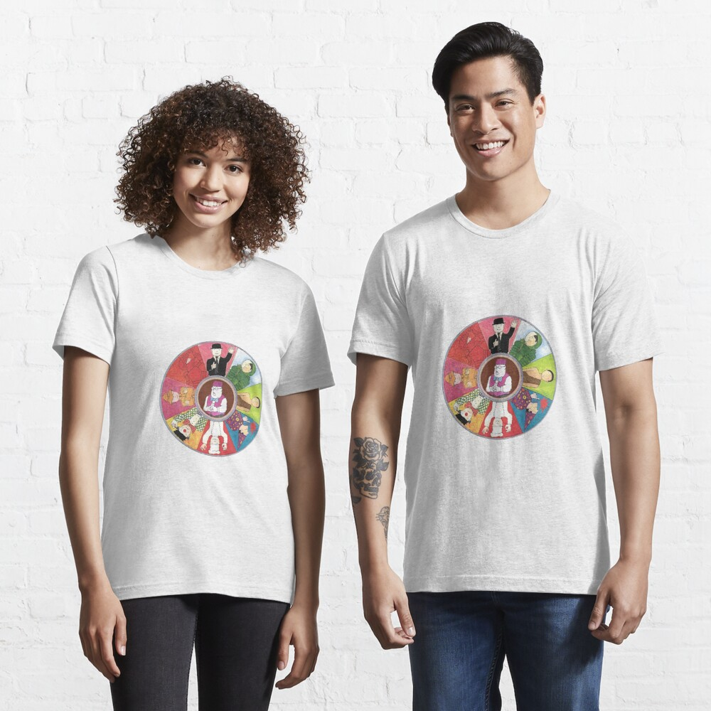 Mr Benn colourful circle deign with The Shopkeeper in the middle Essential T-Shirt
