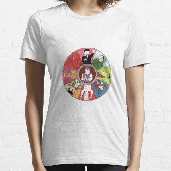Mr. Benns farbenfroher Kreis entwirft mit dem Ladenbesitzer in der Mitte Essential T-Shirt