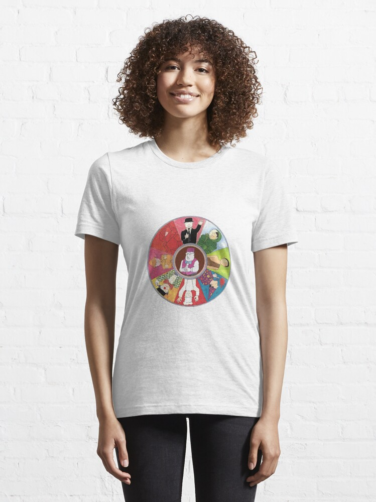 Alternate view of Mr Benn colourful circle deign with The Shopkeeper in the middle Essential T-Shirt