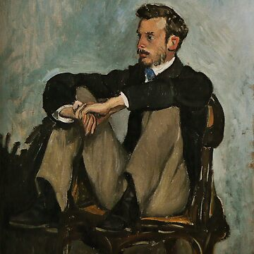 F BAZILLE Renoir seated 1867 by TheGrandTour