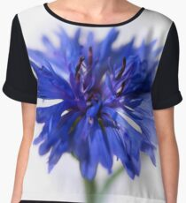 Blue Cornflower Chiffon Top