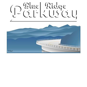 Blue Ridge Parkway a través de las Montañas Apalaches de ryewilcox