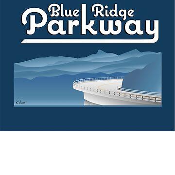 Blue Ridge Parkway a través de las Montañas Apalaches Pegatinas de ryewilcox