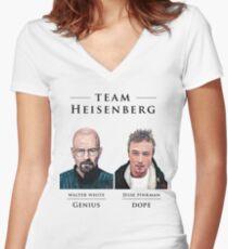 Team Heisenberg Women's Fitted V-Neck T-Shirt