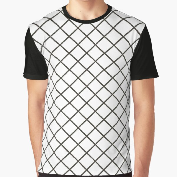 Uncomplicated Pattern fence metal wire #texture #pattern #chain #abstract white mesh grid steel net link chainlink seamless cage barrier iron wall prison Graphic T-Shirt