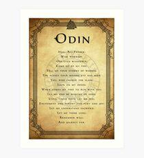 Prayer to Odin Art Print
