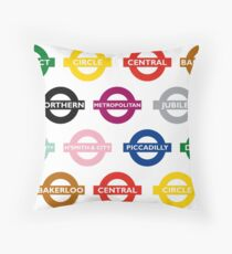 London Underground Signs Design Throw Pillow