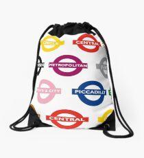 London Underground Signs Design Drawstring Bag