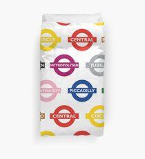 London Underground Signs Design Duvet Cover
