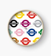 London Underground Signs Design Clock