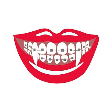 Vampire Braces Teeth Orthodontist Dentist Funny Halloween by ccheshiredesign