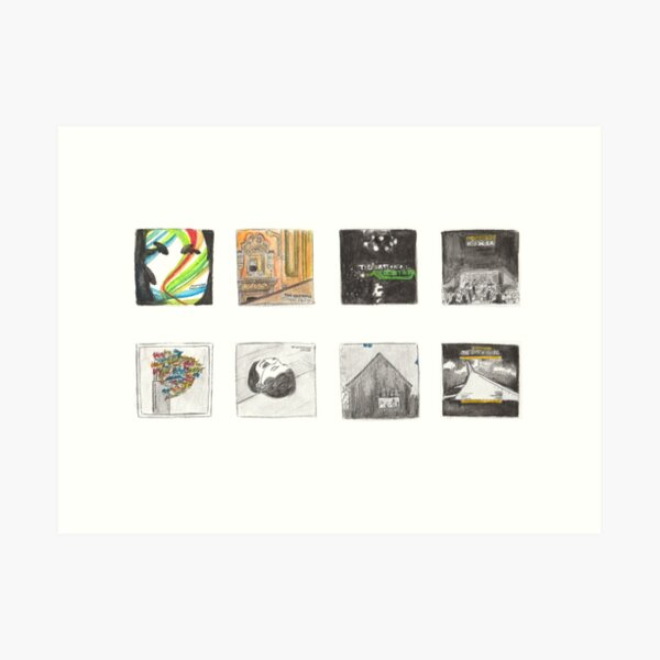 The National - Watercolour Discography Art Print