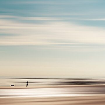 Tranquil Evening - Abstract Seascape with silhouettes by DyrkWyst