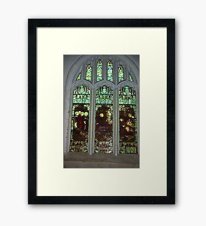 Window #3  St Peter's Church Framed Print