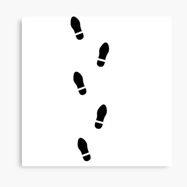 Shoe print, shoeprint, shoe prints, shoeprints, footprints, footprint, step by step, step, foot print, foot prints Canvas Print