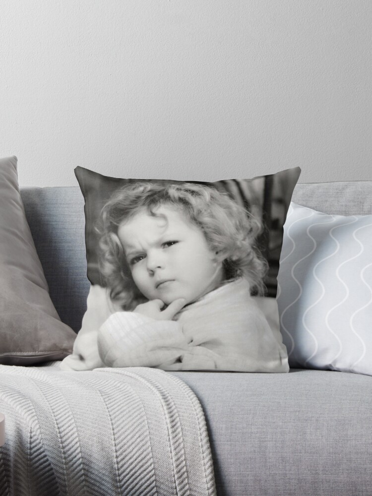 Shirley Temple Deep in Thought by Jacquelyn Stewart