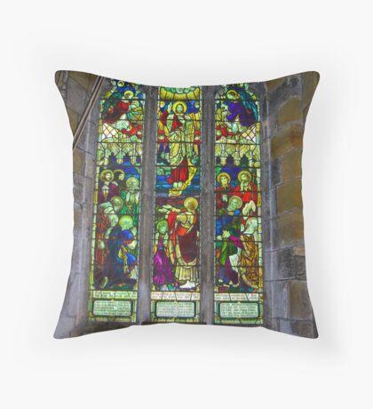 Window #5 St Peter's Church Throw Pillow