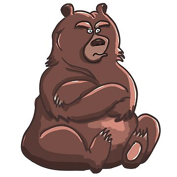 Doba the grumpy bear by Cocotteetloulou