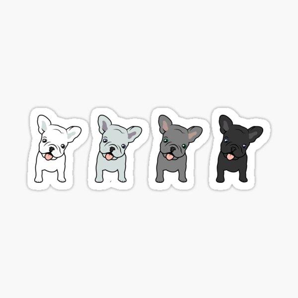 Happy French Bulldogs Sticker
