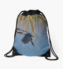 Tri-Colored Heron Coming In Drawstring Bag