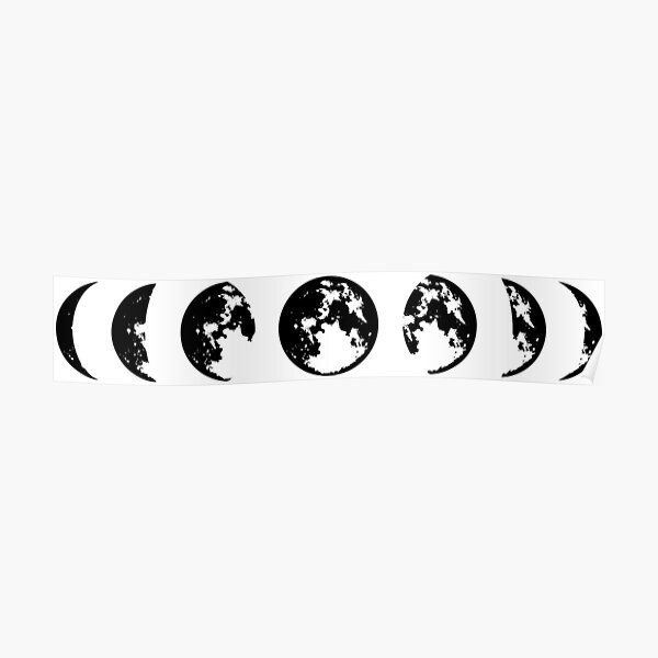 Moon Phases, Lunar Phase Design, Eclipse Original Gift Idea, tshirt, tee, jersey, poster, artwork Poster