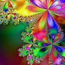 Fractal Flower  # 2 by Marcella Babineaux