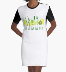 HOLA¡ verano Graphic T-Shirt Dress