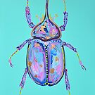 Rhino Beetle by Thebohohouseart