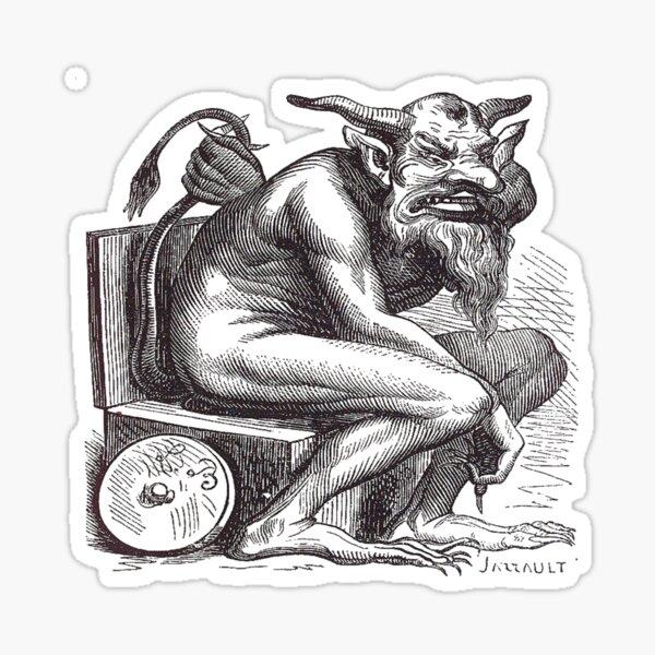 #Belphegor, #demonology, #Beelphegor, #LordoftheGap, #demon, #princesofHell, #helps #people make #discoveries, #seduces people, #ingenious #inventions, #rich Sticker