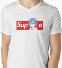 Camiseta para hombre de cuello en v Rem x camiseta estilo suprema