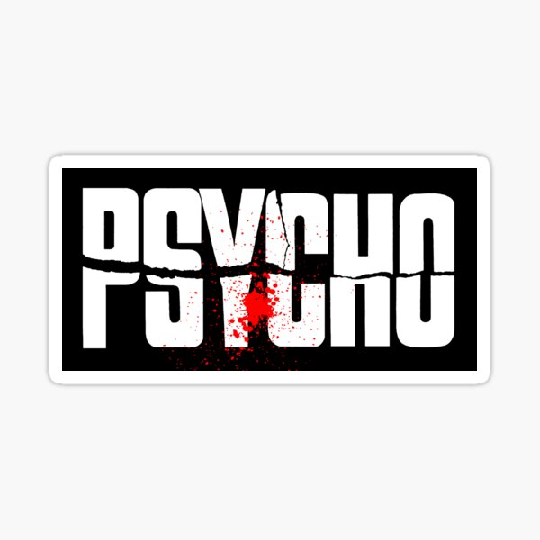 Psycho-Movie-Blood-Horror- Master of Suspense Sticker
