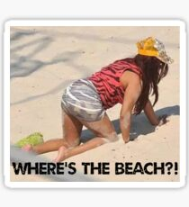 snooki where's the beach sticker Sticker