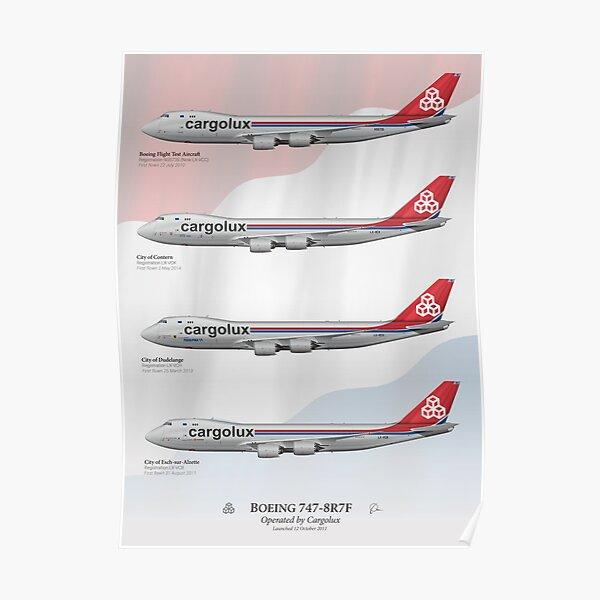 Boeing 747-8R7F - Cargolux Poster