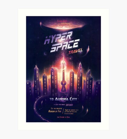 Space Travel Poster Art Print