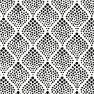 Black White Polka Dot Geometric by emma60