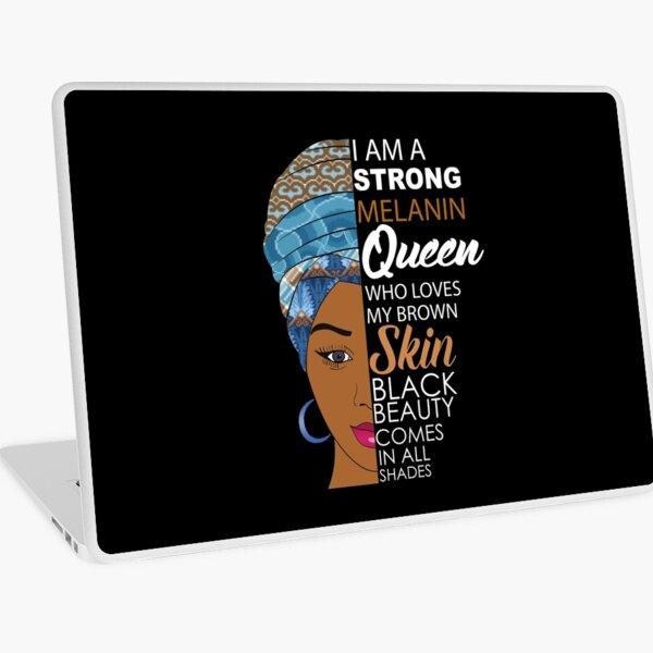Strong Black Melanin Queen Laptop Skin