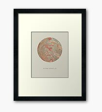 exoplanet_3 (sugar mountain) Framed Print