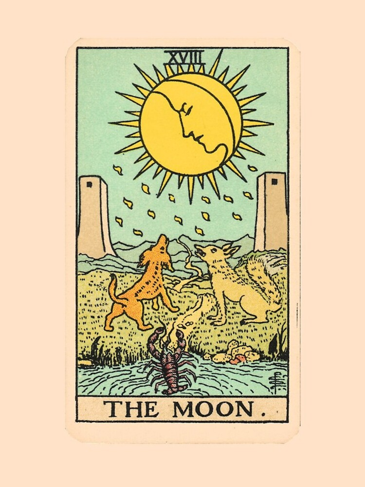 Tarot Card - The Moon by ineedmorem0ney
