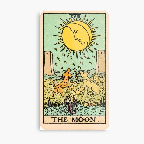 Tarot Card - The Moon Metal Print