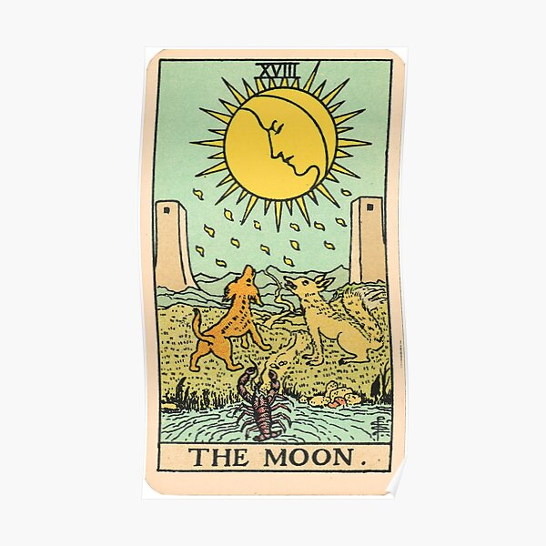 Tarot Card - The Moon Poster