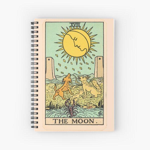 Tarot Card - The Moon Spiral Notebook