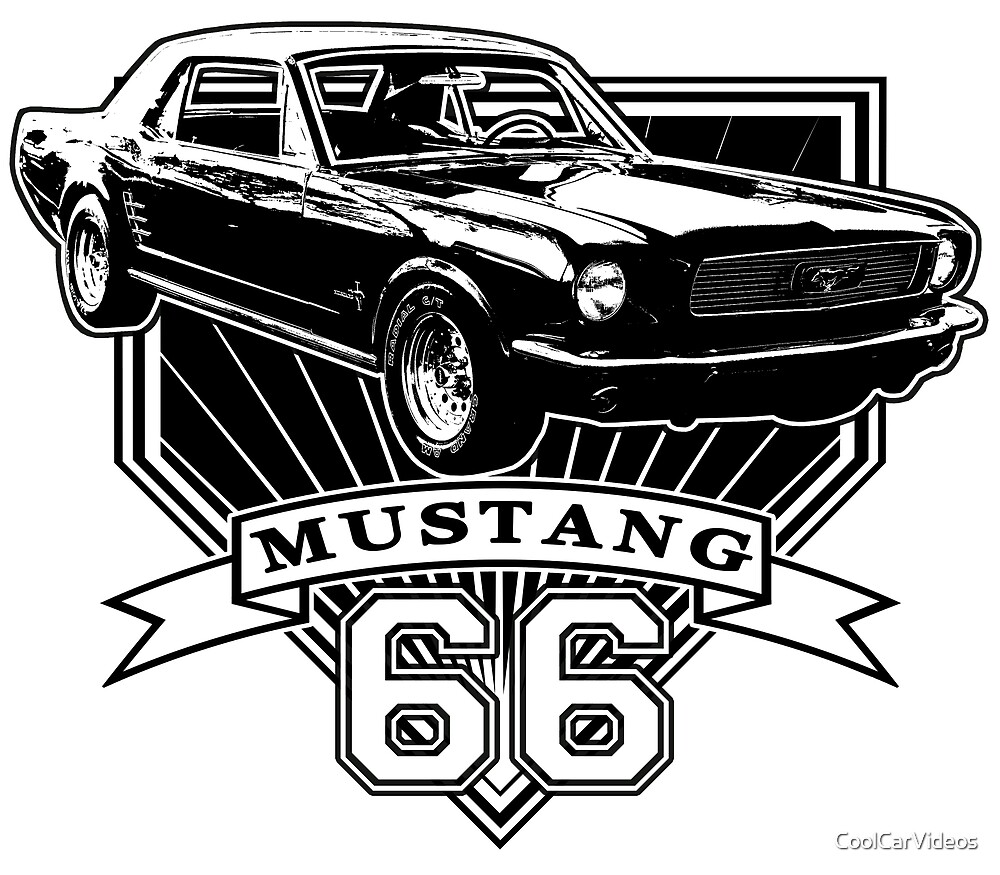 66 mustang coupe t-shirt