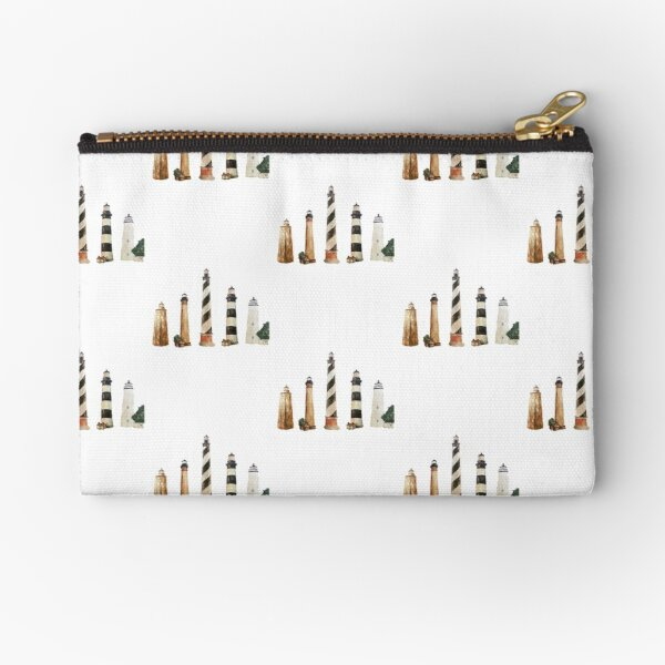 Lighthouses of North Carolina Zipper Pouch