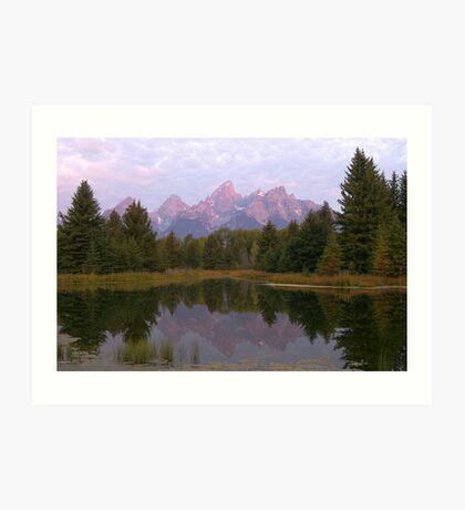 Grand Teton at Schwabacher's Landing Art Print