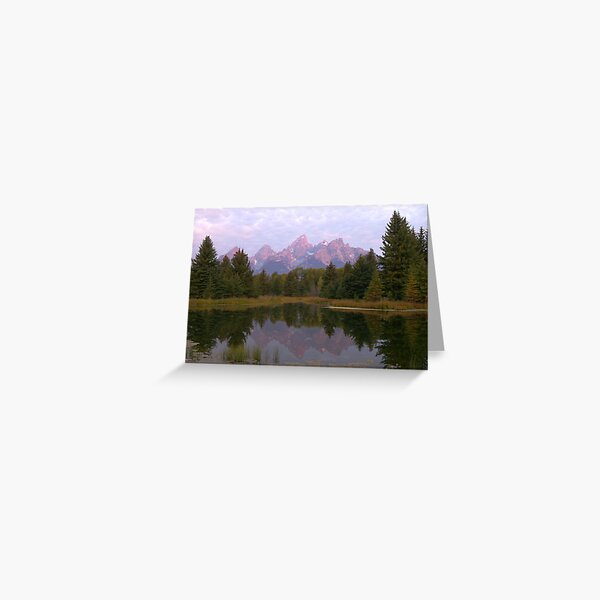 Grand Teton at Schwabacher's Landing Greeting Card