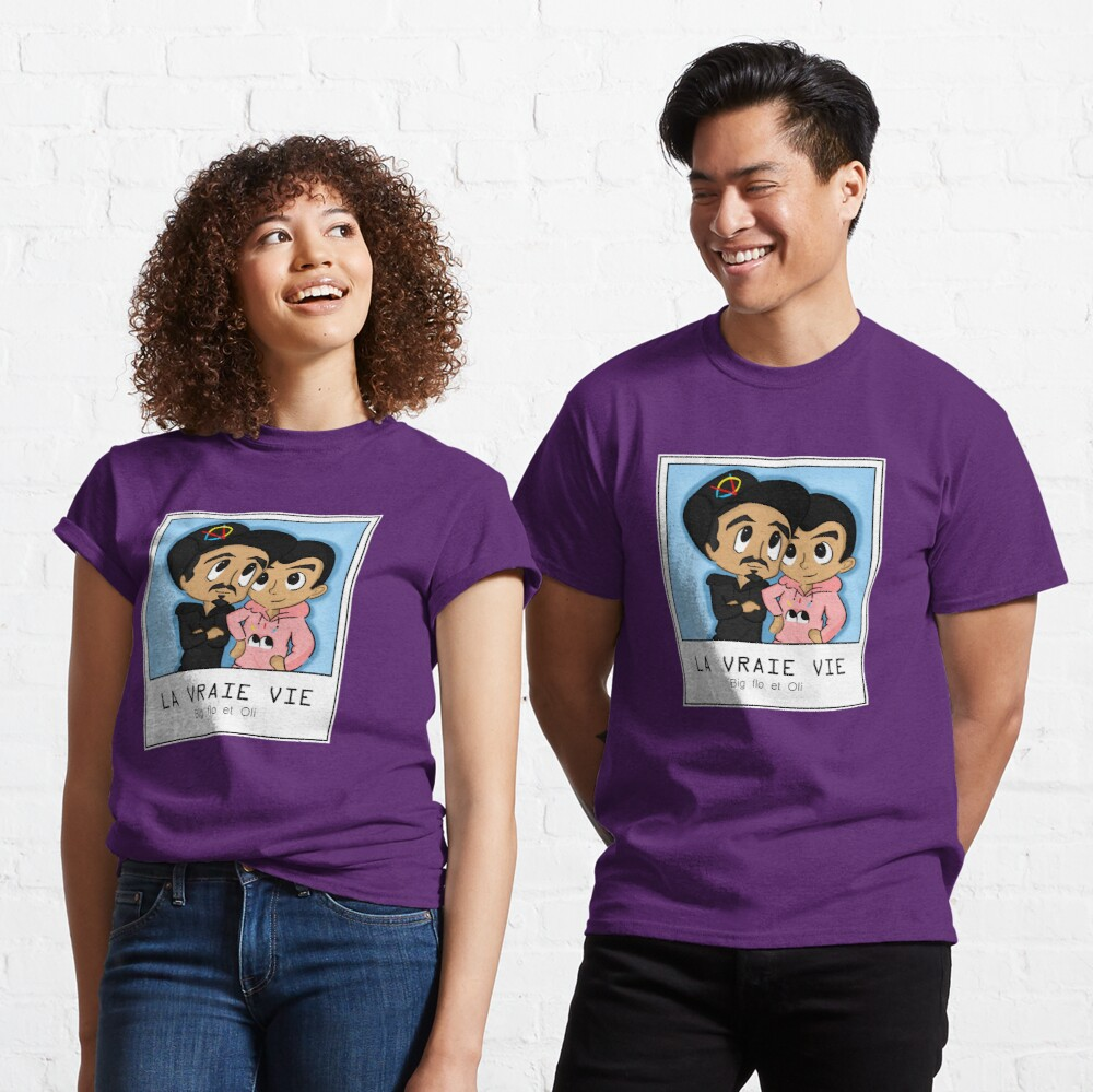 T-shirt classique «Bigflo et Oli LA VRAIE VIE»