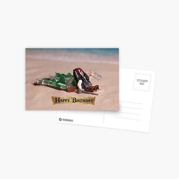 Pirates of the Caribbean themed Birthday Card Postcard